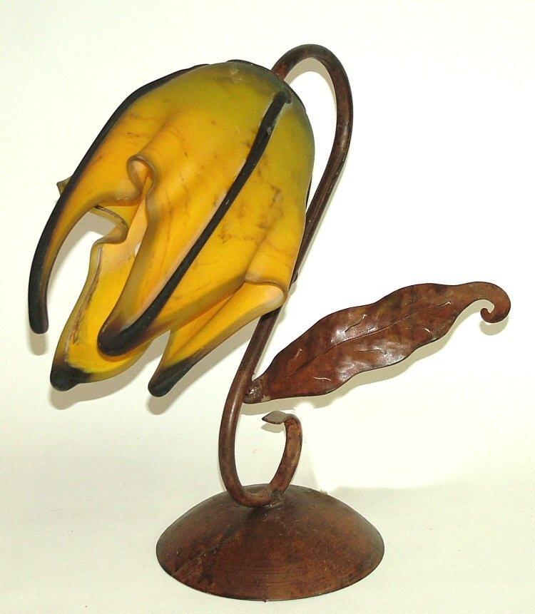Art Glass Lamps Sculptured Vessels Hand Blown Mexican Bubble Glass