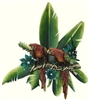 Tropical Themed Metal and Resin Wall Art Décor