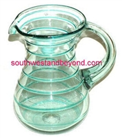 Hand Blown Mexican Pitcher