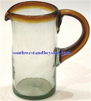 Mexican Glassware - Handmade Pitcher