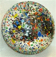 Pebbled confetti garden home glass sphere