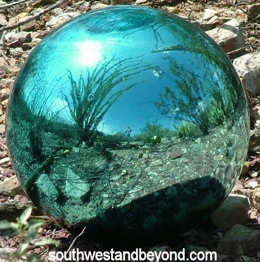 Glass Gazing Balls Garden Globes Mirrored Spheres Witching Spheres Blown Glass