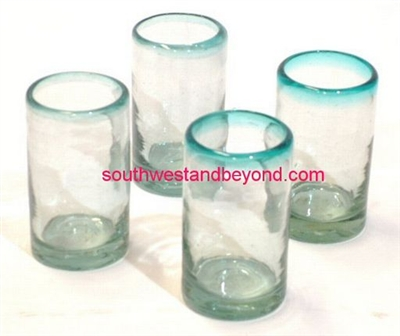 Mexican Glassware - Handmade Juice Glasses