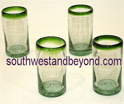 Handmade Mexican Glassware - Juice Glasses
