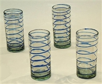 Handmade Mexican Glassware - Highball Glasses