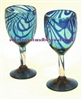 Handmade Mexican Glassware - Wine Glass