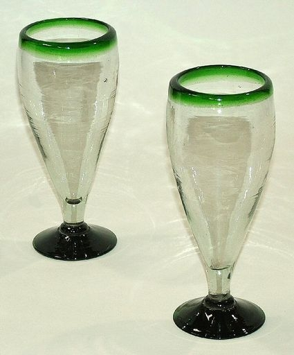 Mexican Mouth Blown Handmade Bubble Glassware