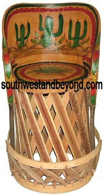 Mexican Equipal Handmade Barstool