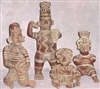 Pre Columbian pottery Mayan Art pottery reproductions a large variety of Idols