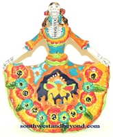 22205-A1  Talavera Catrina - Day of the dead Skeleton Figure