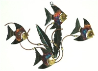 Tin coppered wall and table art animals, fish and southwest themed wall and table décor.