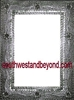 33426 Silver Tin Frame Mirror Rectangular Shape