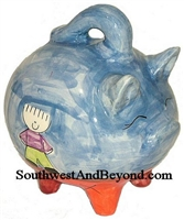 Hand Painted Piggy Bank
