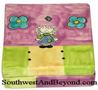 Hand Painted Square Keepsake Box