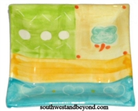 Square Candle Holder Plate
