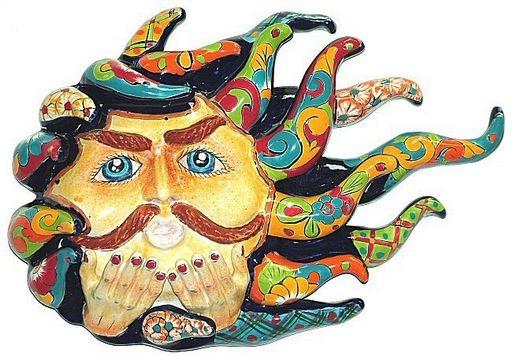Talavera Wall Art tropical bird fish and sun wall art tropical themed wall decor