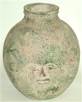 Sun Face Rounded Vase