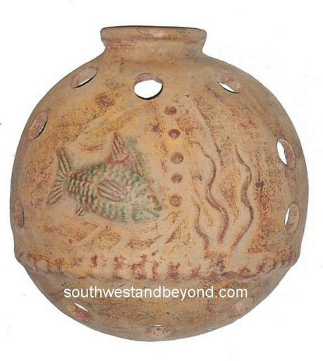 Wall Sconce Rustic Clay Light Cover Mexican Wall Art