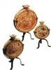 Clay and Iron 3pc Mexican Pottery Set
