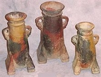Clay 3pc Pottery Set - Loop Arm Design Vase Set