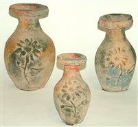 Clay 3pc Pottery Set - Vase Set