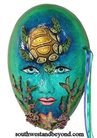 Exotic Clay Mask Wall Decor Art