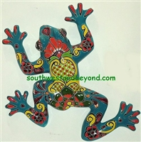 Talavera Frog Wall Decor / Gecko Wall Decor Our Talavera Frogs can be hung on the wall or they can just be placed where ever you wish. They will add color and brighten up your home décor.