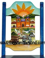 Mexican Hand Carved Design and Hand Painted