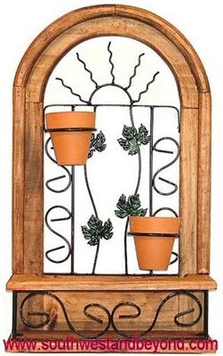 rustic wall decor arched window frame. Black Bedroom Furniture Sets. Home Design Ideas