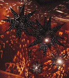 Tin Hanging Light Fixture Star