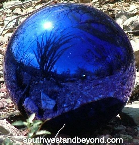 Glass Gazing Balls Garden Globes Mirrored Spheres witching