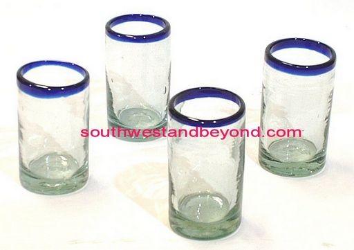 mexican glassware handmade juice glasses