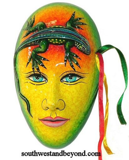Exotic Clay Mask Wall Art Decor