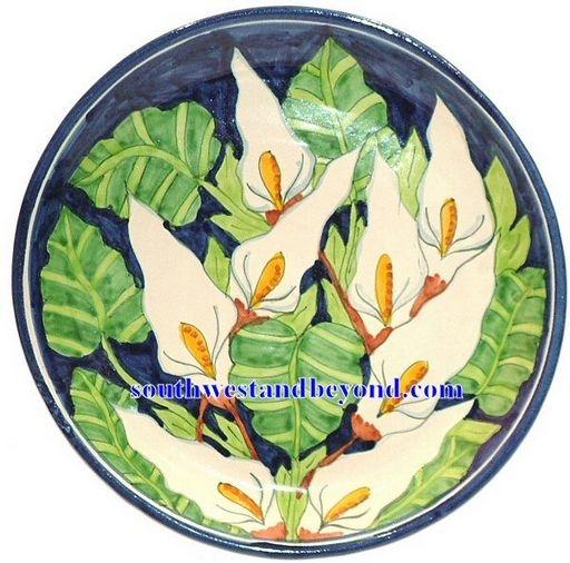 80501 D3 Talavera 14 Wall Plate Callalily Design