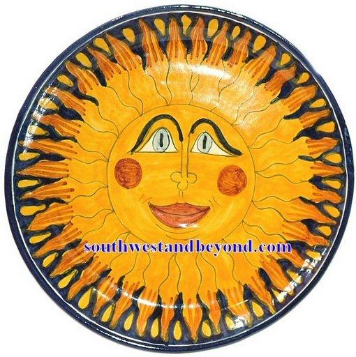 80501 G5 Talavera 14 Wall Plate Sun Design