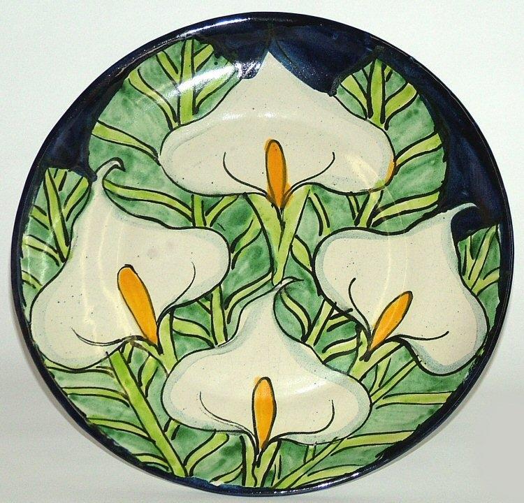 80503 D1 Talavera 12 Wall Plate Callalily Design