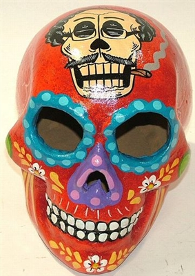 Folk Art Mexican Day Dead Skulls