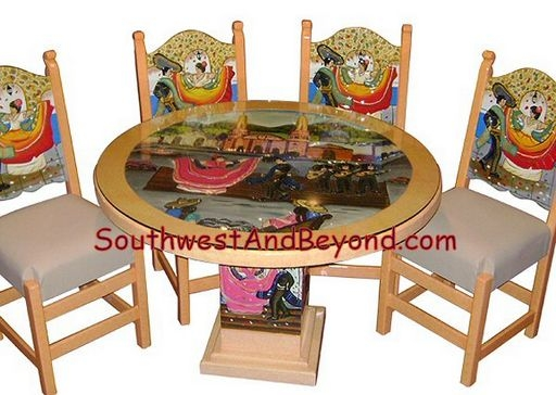 Enjoyable 01 Pueblo Fiesta Plaza Table Set 025 Ocoug Best Dining Table And Chair Ideas Images Ocougorg