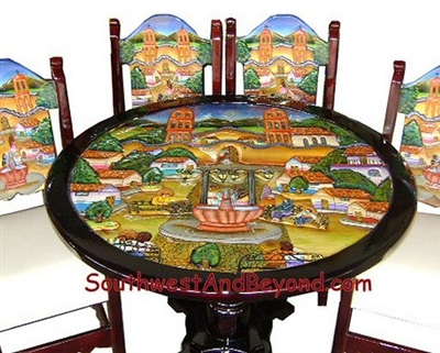 01a   Pueblo Design Table Set   072