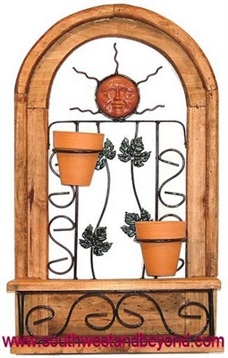 Rustic Wall Decor Arched Window Frame